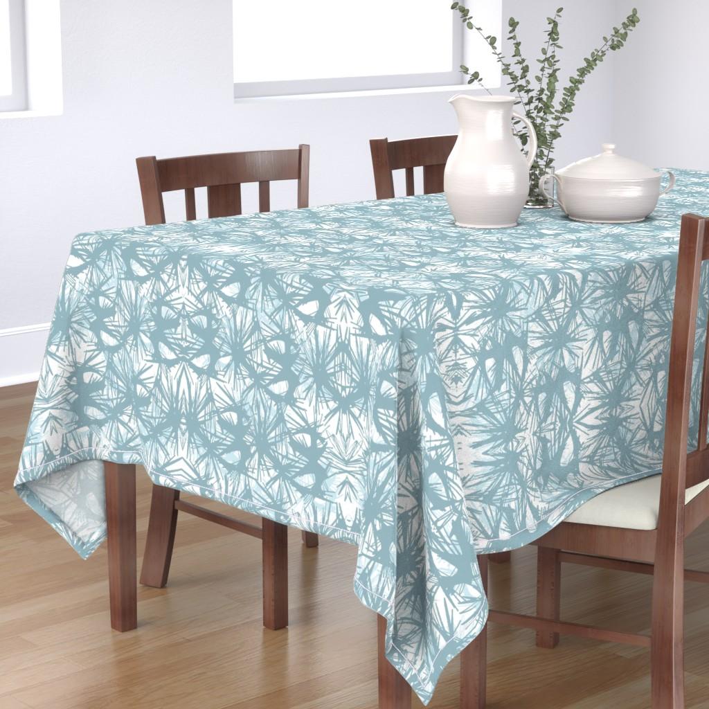 Bantam Rectangular Tablecloth featuring tropical_Teal by elainecollinsdesigns