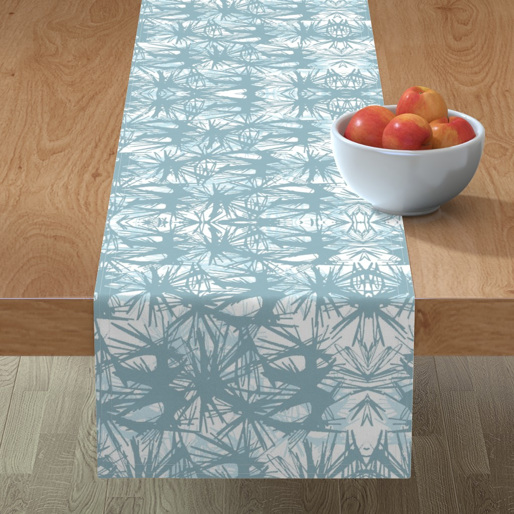Minorca Table Runner featuring tropical_Teal by elainecollinsdesigns