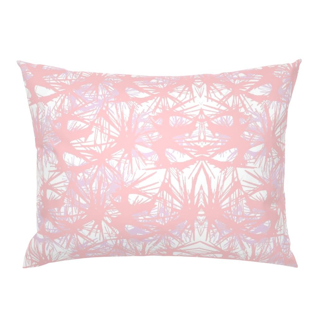 Campine Pillow Sham featuring tropical_Rose Quartz by elainecollinsdesigns