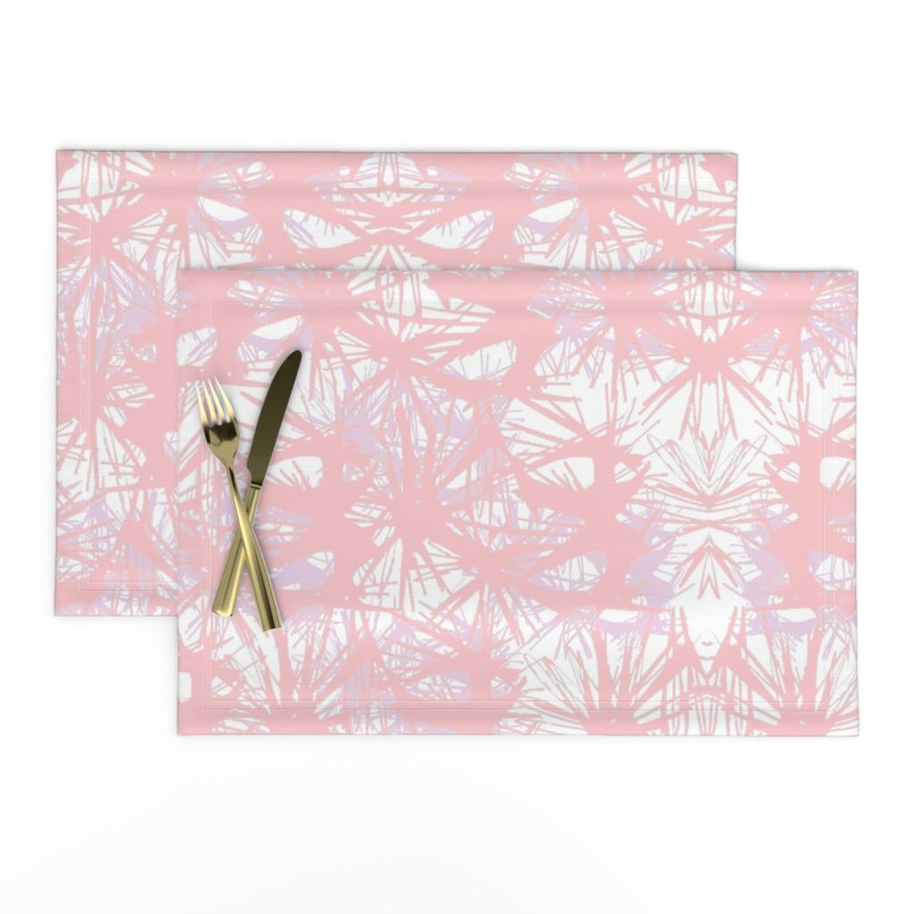 Lamona Cloth Placemats featuring tropical_Rose Quartz by elainecollinsdesigns