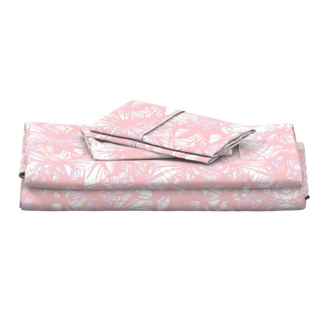 Langshan Full Bed Set featuring tropical_Rose Quartz by elainecollinsdesigns