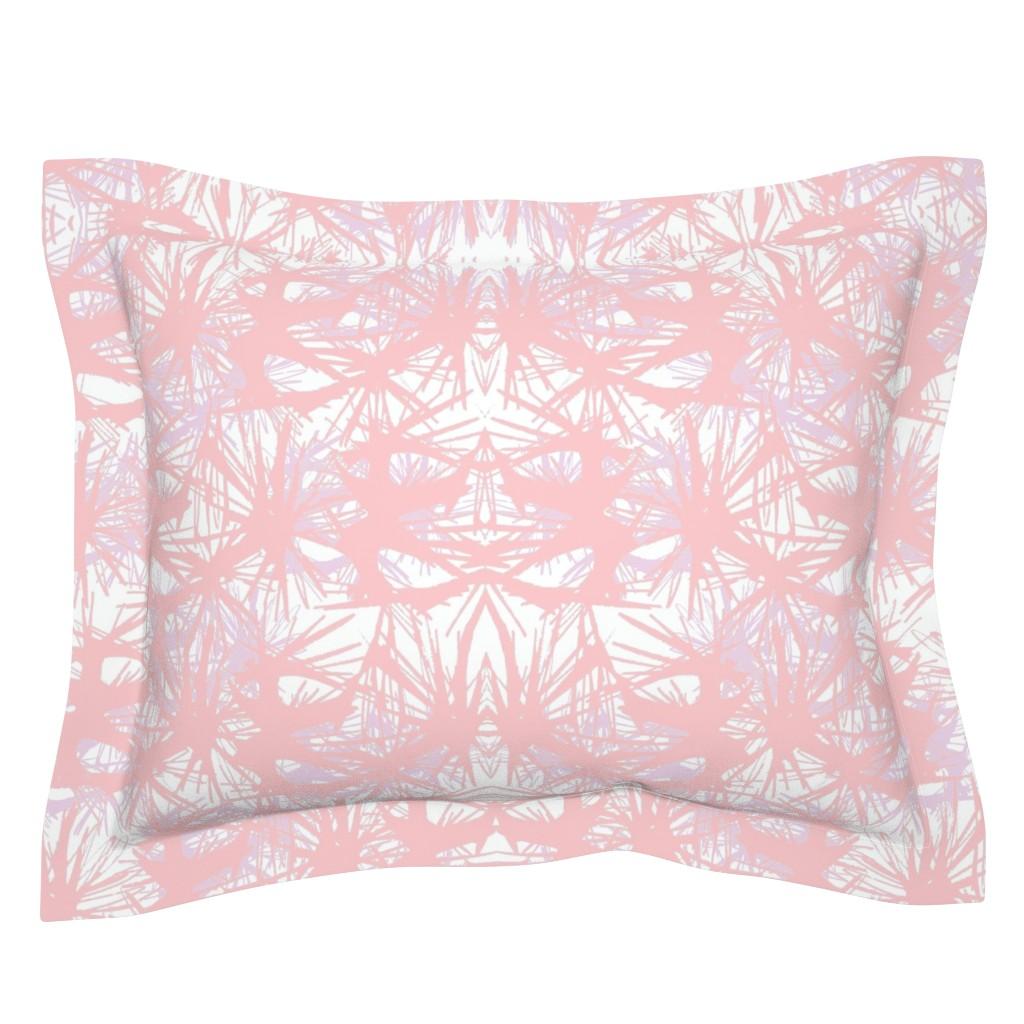 Sebright Pillow Sham featuring tropical_Rose Quartz by elainecollinsdesigns