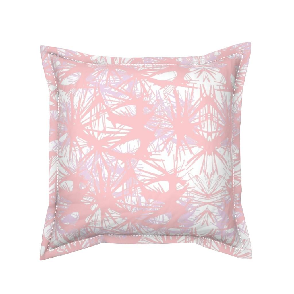 Serama Throw Pillow featuring tropical_Rose Quartz by elainecollinsdesigns
