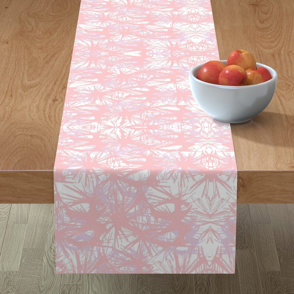 Minorca Table Runner featuring tropical_Rose Quartz by elainecollinsdesigns