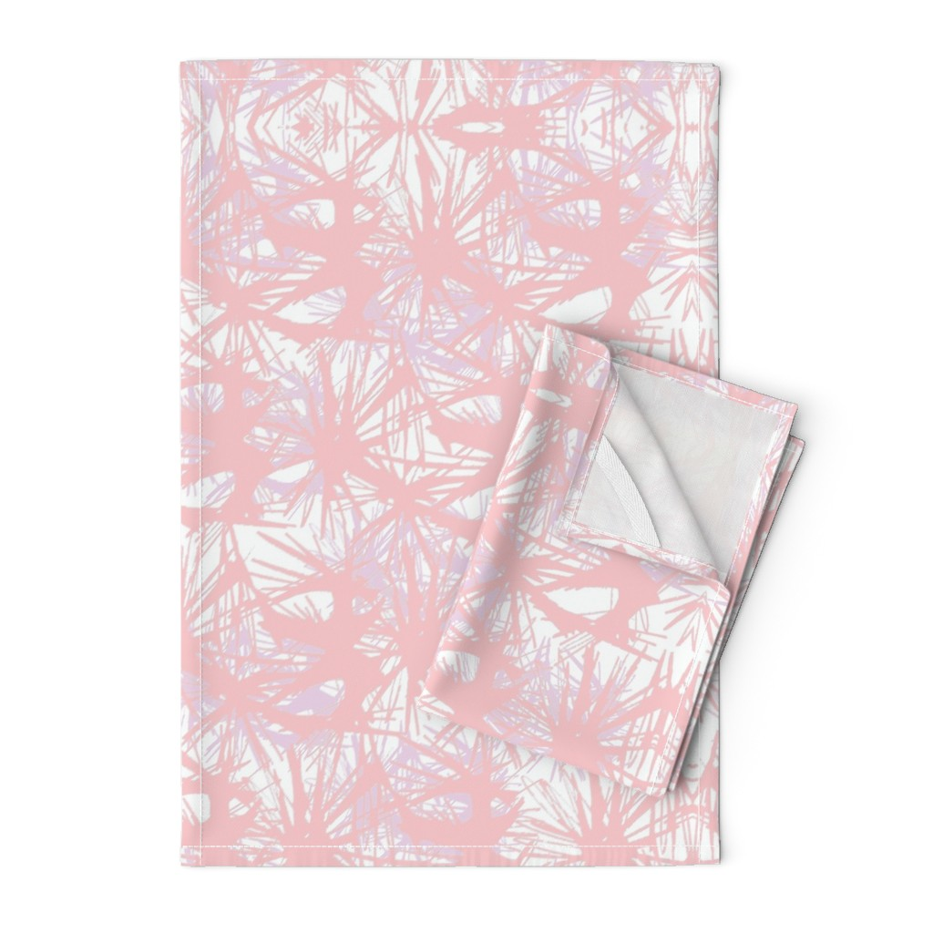 Orpington Tea Towels featuring tropical_Rose Quartz by elainecollinsdesigns