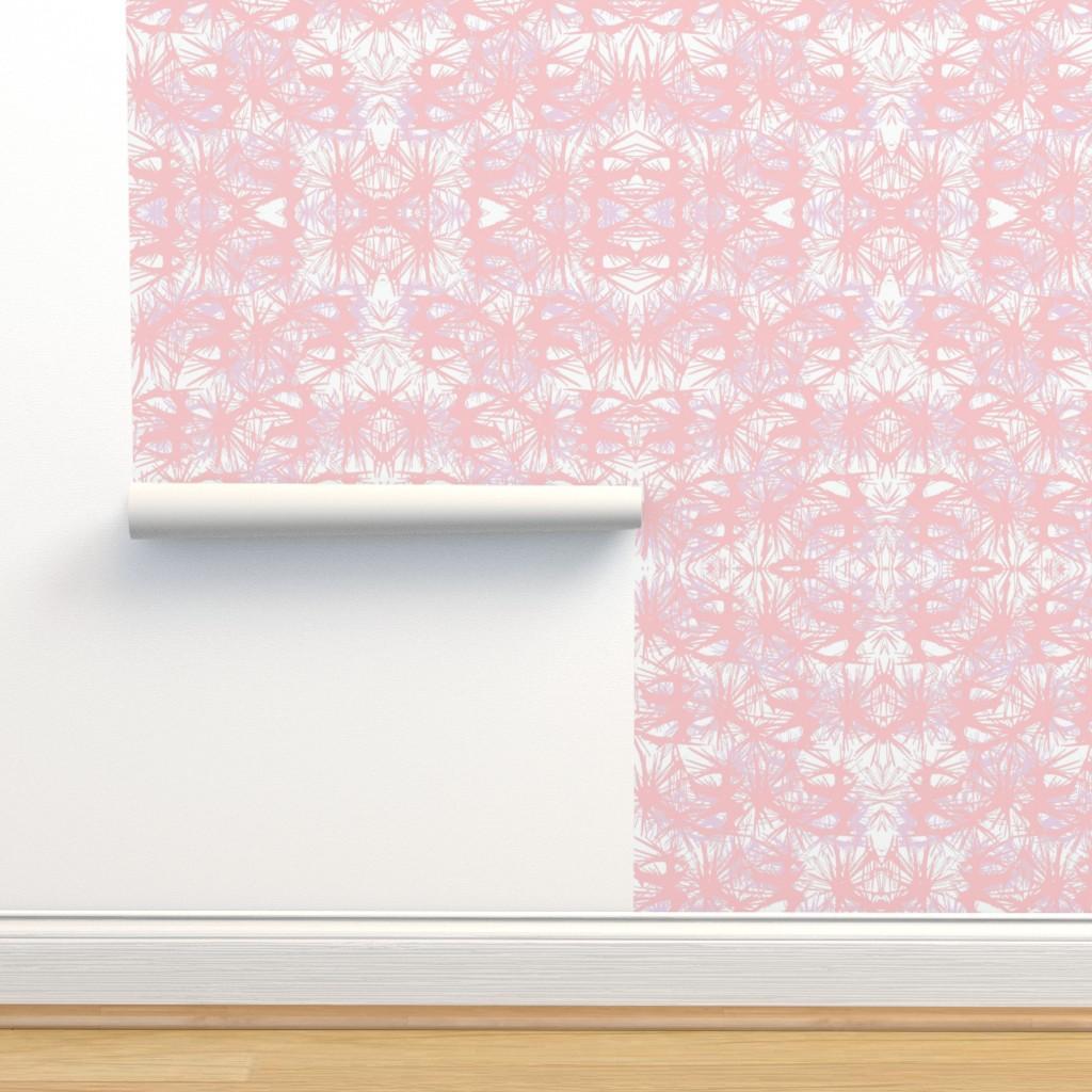 Isobar Durable Wallpaper featuring tropical_Rose Quartz by elainecollinsdesigns