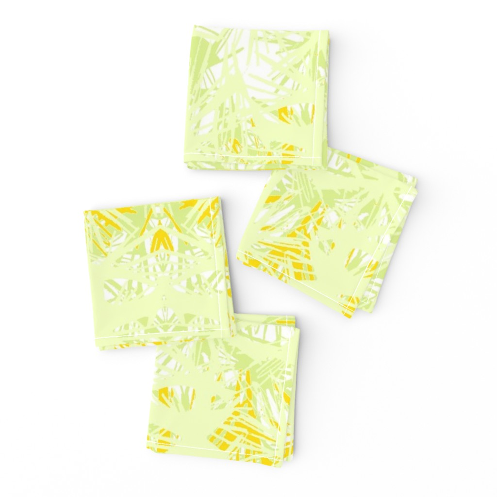 Frizzle Cocktail Napkins featuring Tropical_plant in satsuma by elainecollinsdesigns