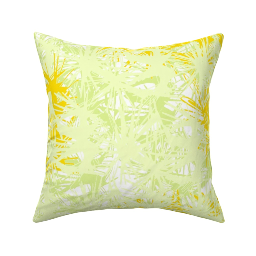 Catalan Throw Pillow featuring Tropical_plant in satsuma by elainecollinsdesigns
