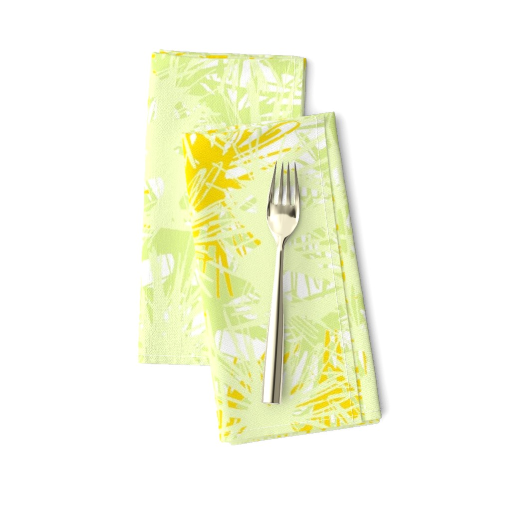 Amarela Dinner Napkins featuring Tropical_plant in satsuma by elainecollinsdesigns