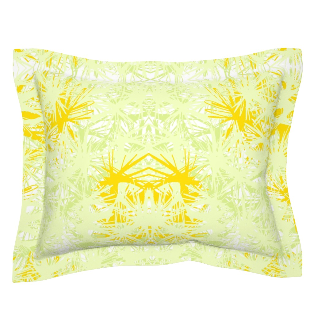 Sebright Pillow Sham featuring Tropical_plant in satsuma by elainecollinsdesigns