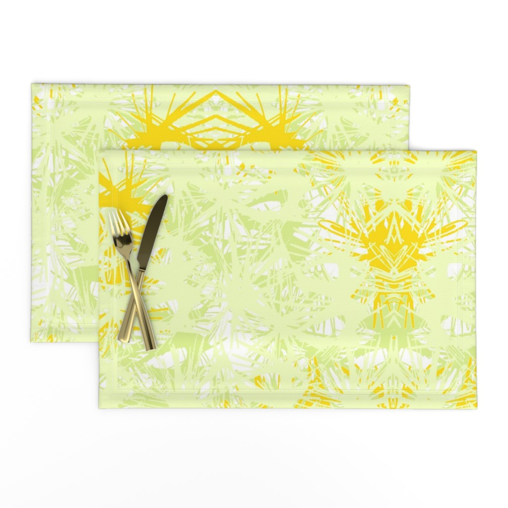 Lamona Cloth Placemats featuring Tropical_plant in satsuma by elainecollinsdesigns