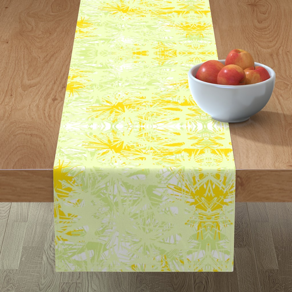 Minorca Table Runner featuring Tropical_plant in satsuma by elainecollinsdesigns