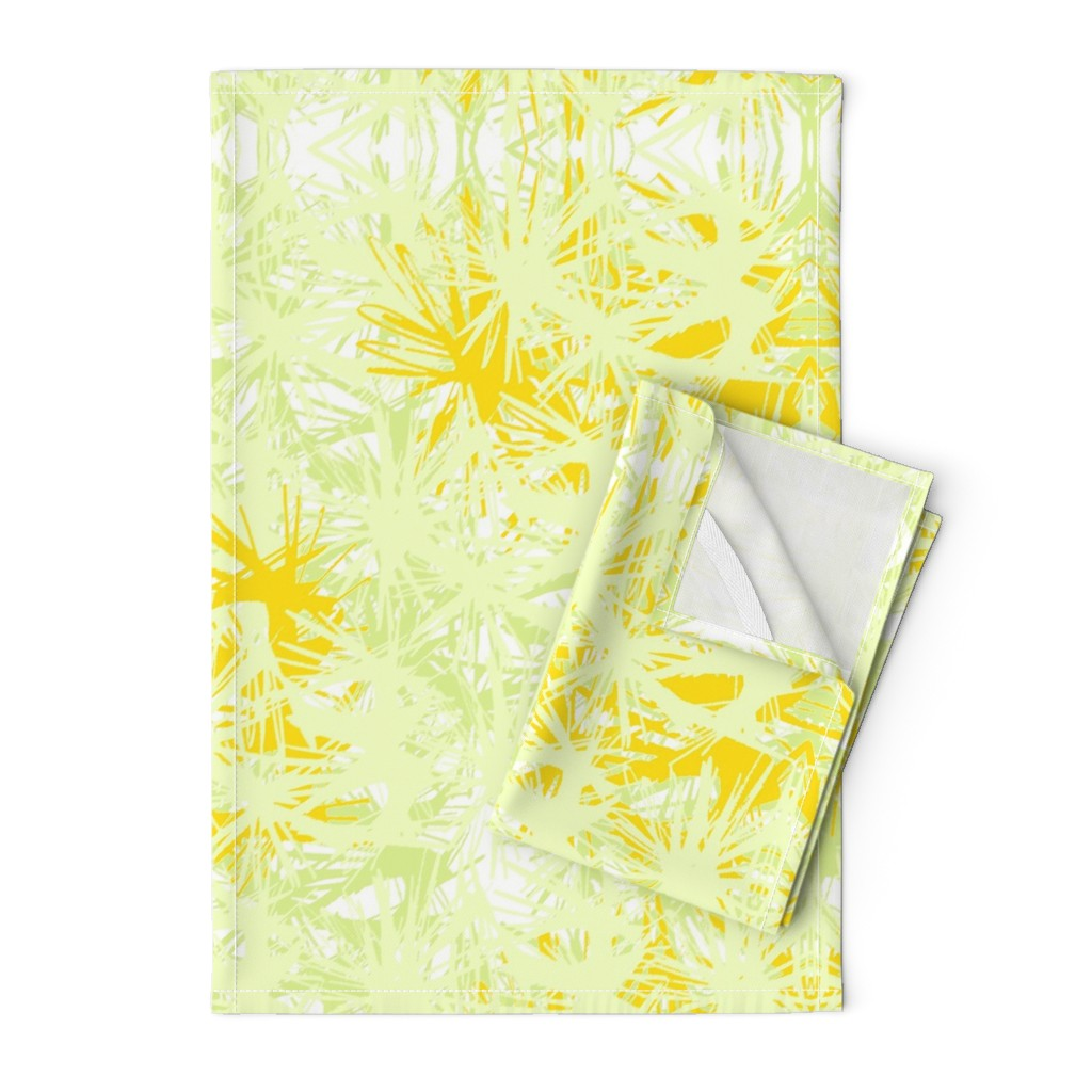 Orpington Tea Towels featuring Tropical_plant in satsuma by elainecollinsdesigns