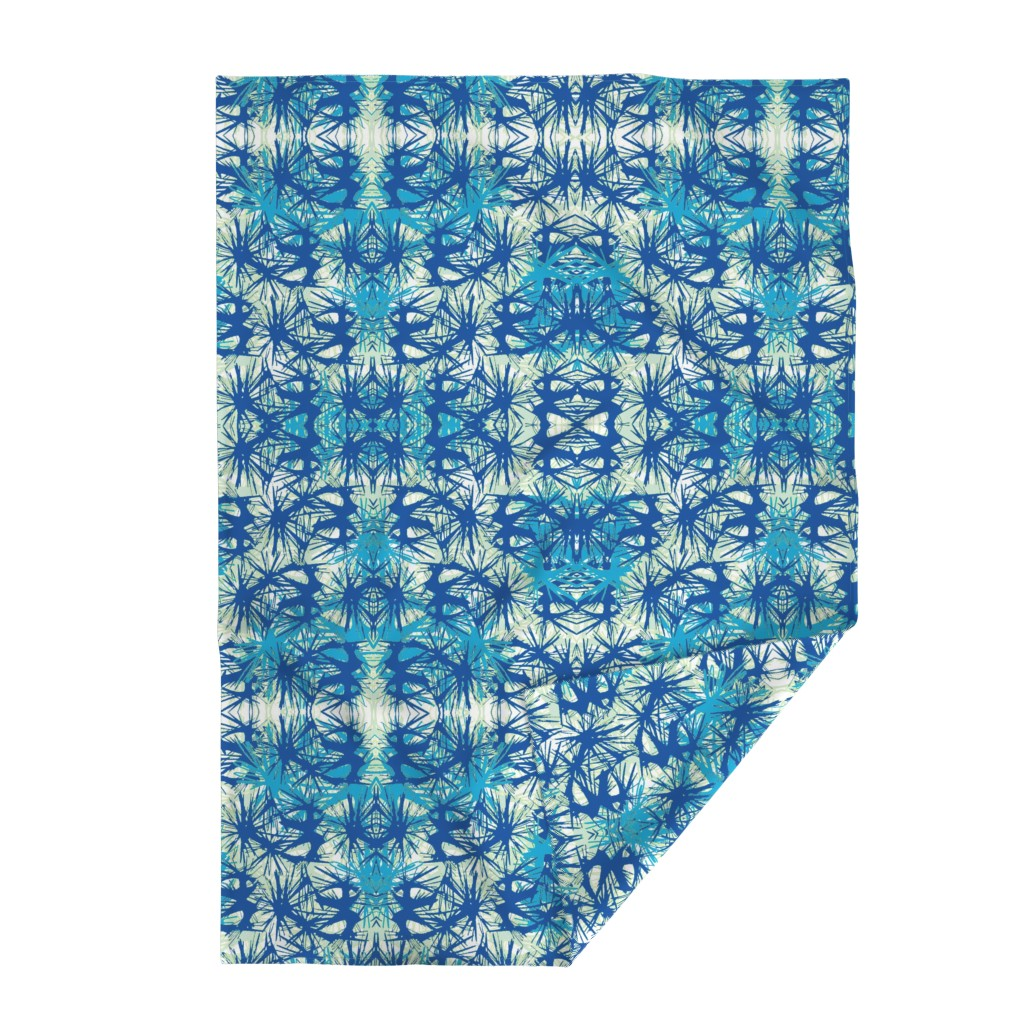 Lakenvelder Throw Blanket featuring Tropical_plant in midnight sky by elainecollinsdesigns