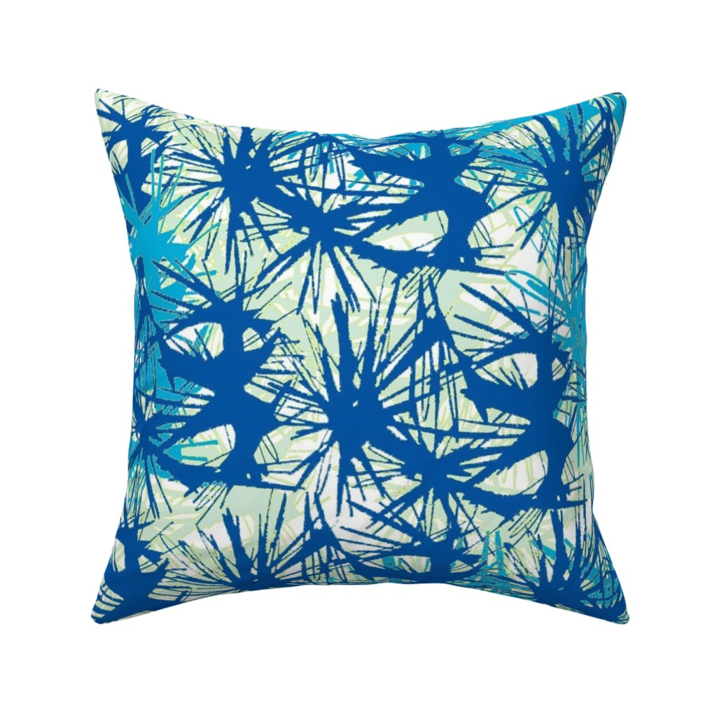 Catalan Throw Pillow featuring Tropical_plant in midnight sky by elainecollinsdesigns