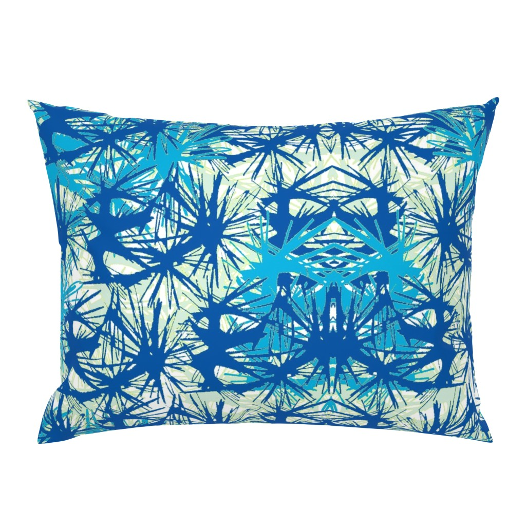Campine Pillow Sham featuring Tropical_plant in midnight sky by elainecollinsdesigns