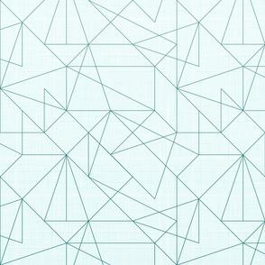 Geometric lines Gradient (Dark Turquoise)
