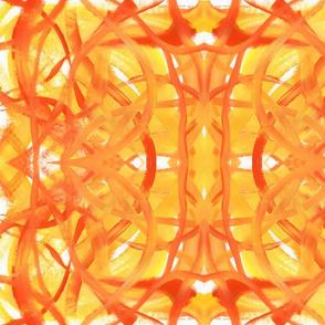 Summer Orange Yellow Swirls