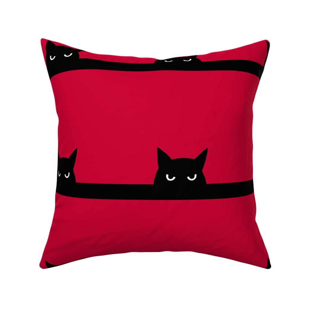 "Catalan Throw Pillow featuring 8"" cat by strange_phenomena"