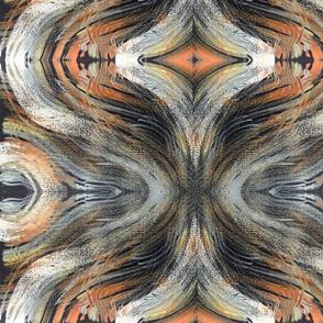 Retro Hour Glass in Orange Silver Black