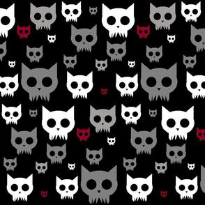 Cat Skulls - Dark Variant