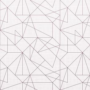 Geometric lines Gradient (Maroon)
