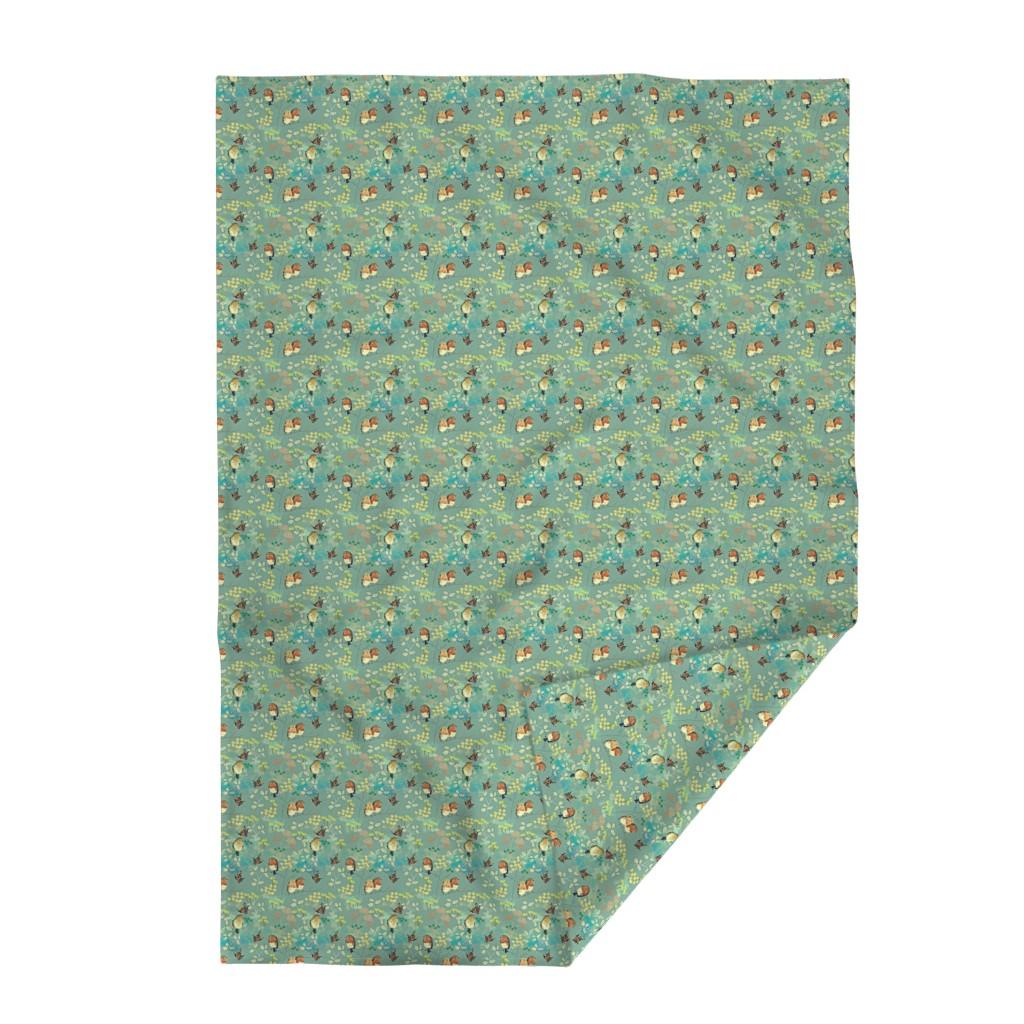 Lakenvelder Throw Blanket featuring Birds and Butterflies by susan_polston