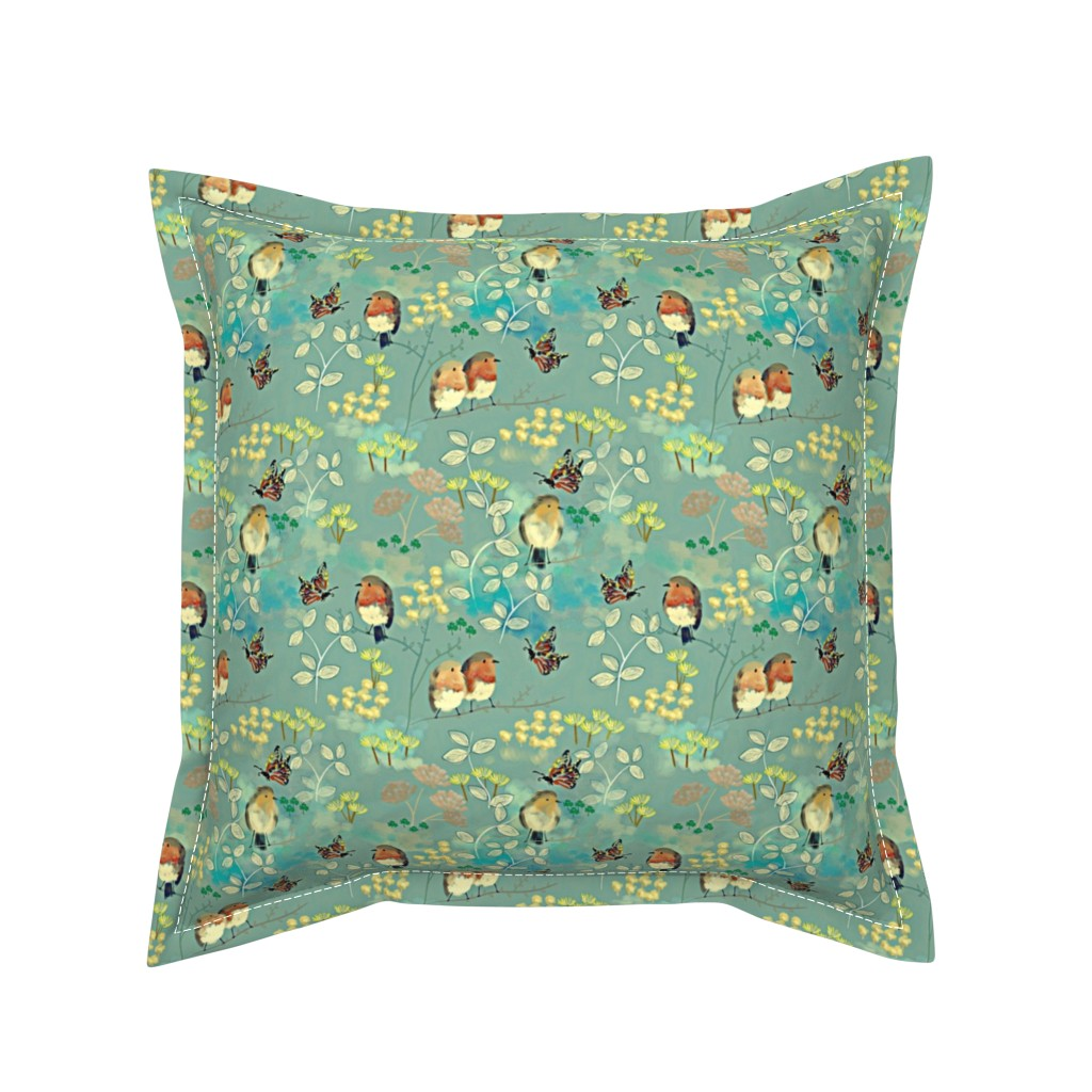 Serama Throw Pillow featuring Birds and Butterflies by susan_polston