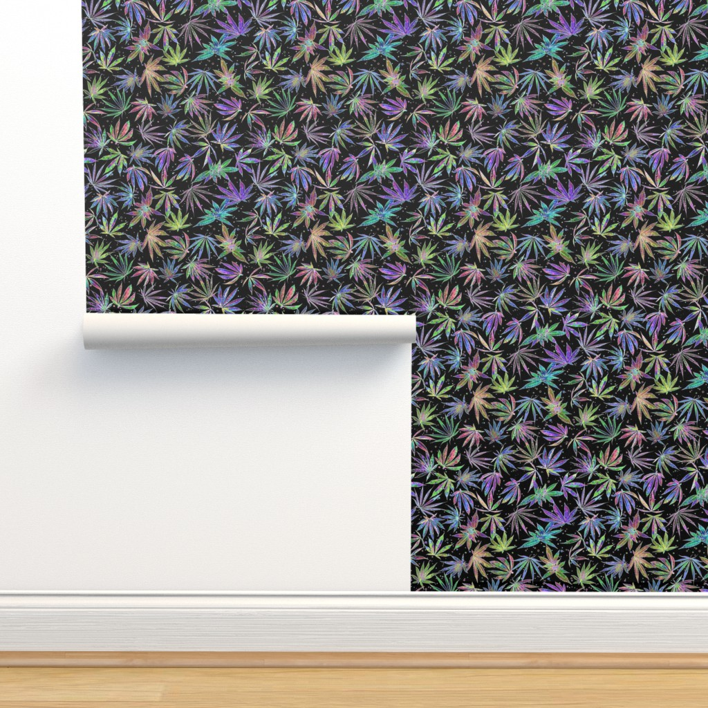 Isobar Durable Wallpaper featuring Neon Pot Party by camomoto