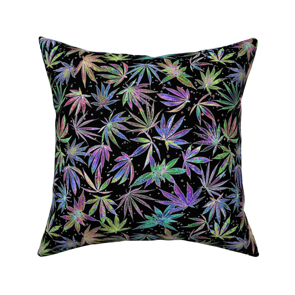 Catalan Throw Pillow featuring Neon Pot Party by camomoto