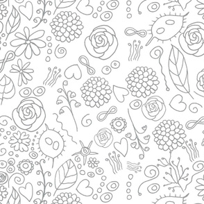 Hearts and Honesty colouring in