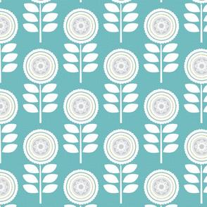Mod Flowers Blue