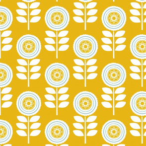 Mod Flower Yellow