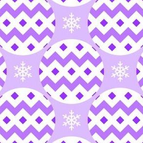 R4X bauble : violet mauve lilac