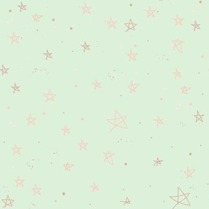 Stars and Galaxies | Pale Gold on Green
