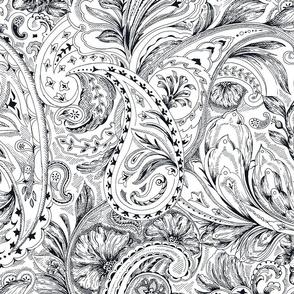 Paisley - Black&White