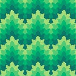 05034306 : leafy zigzag : serene greenery