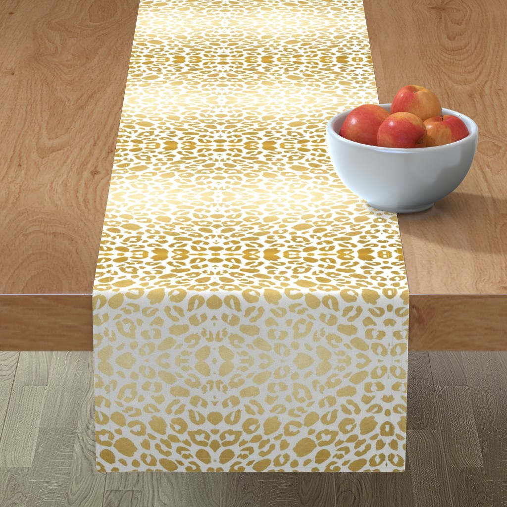 Minorca Table Runner featuring Gold leopard print by mlags