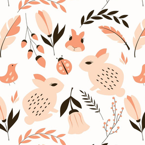 Bunnies and flowers 001