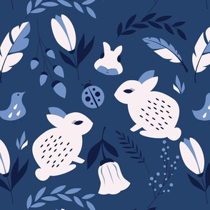 Bunnies and flowers 003