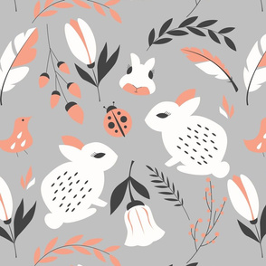 Bunnies and flowers 007