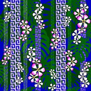 Purple Popple on blue