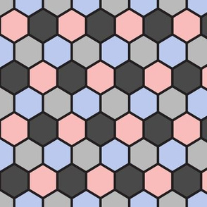 Hexigons (Rose Quartz and Serenity)