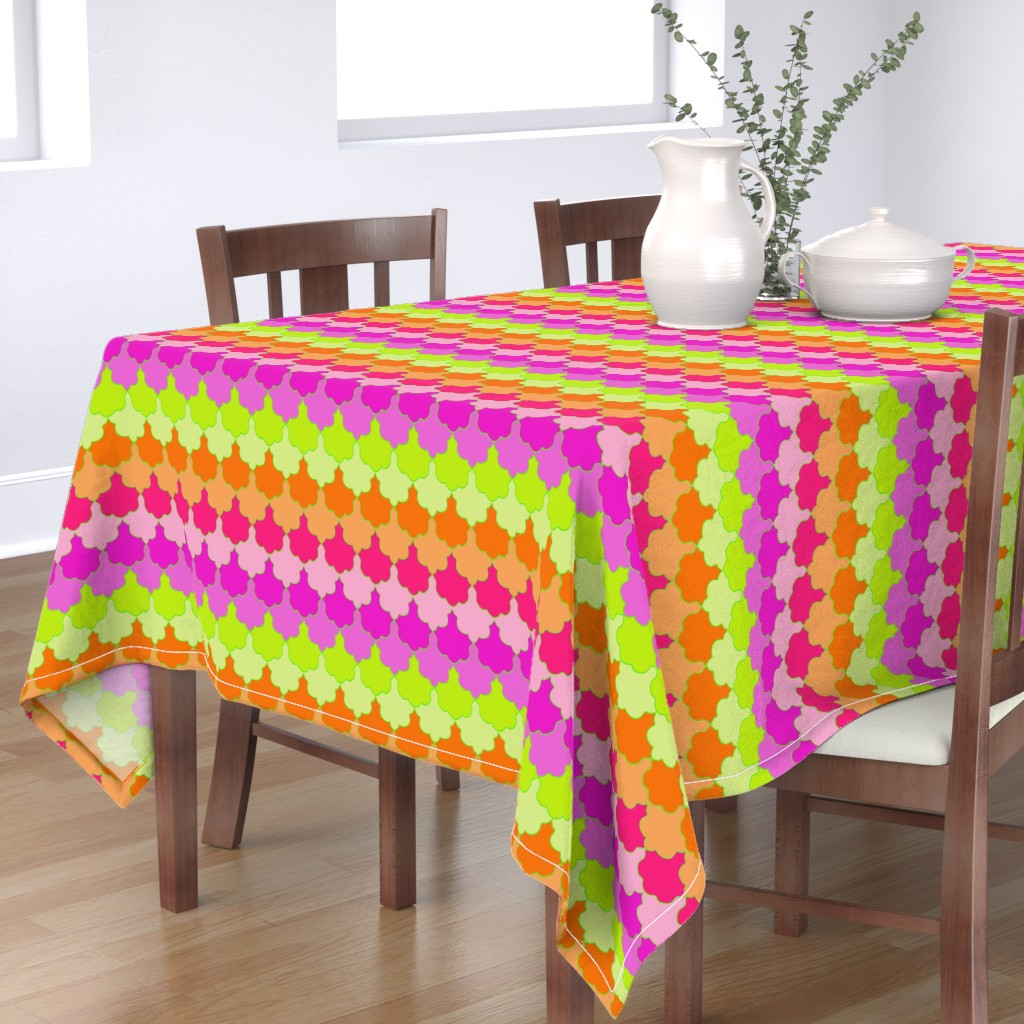 Bantam Rectangular Tablecloth featuring LA Scallop by paper_and_frill