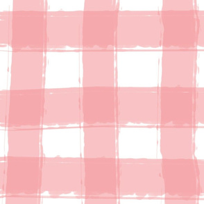 Watercolor Check in Pink