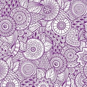 Indian Henna Design Purple