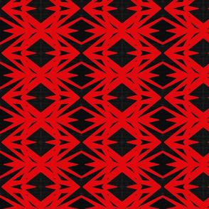 Red Black Diamonds Triangles