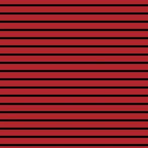 Stripes - Horizontal - Dark Red (#B1252C) and Black (#000000)
