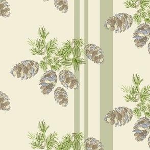 16-19H Sage Pinecone Stripe_Miss Chiff Designs