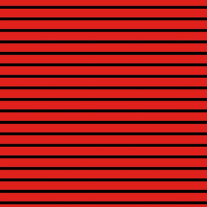 Stripes - Horizontal - Mid Red (#E0201B) and Black (#000000)